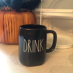 New Rae Dunn Black Drink Mug